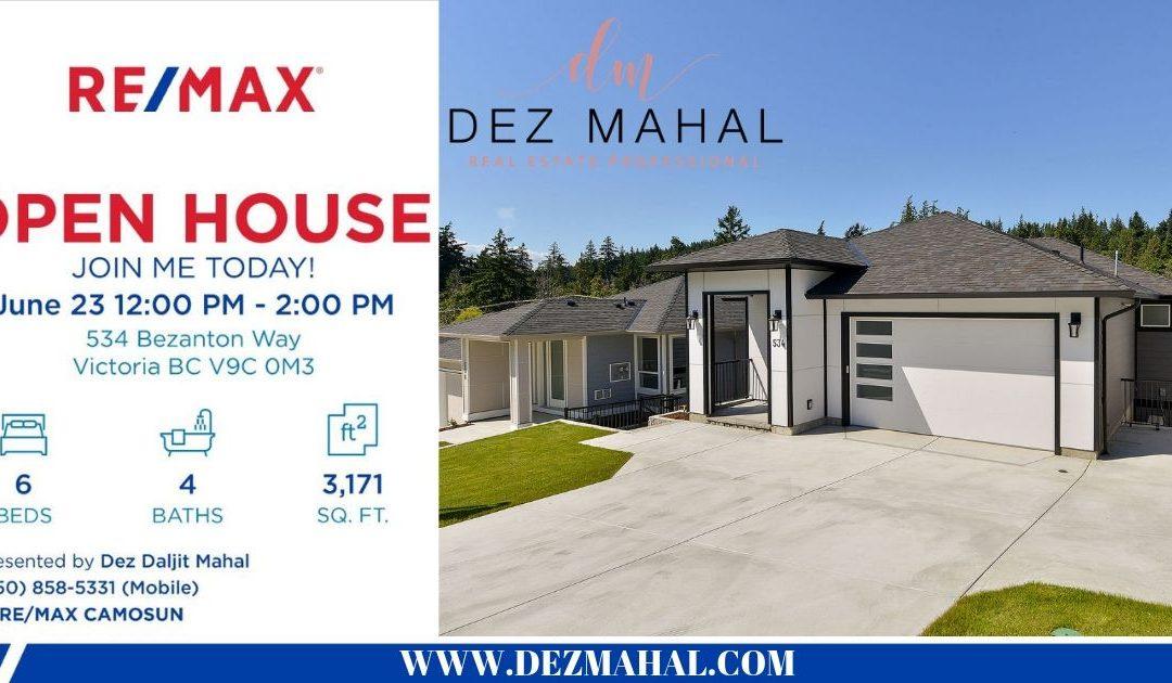 OPEN HOUSE -534 BEZANTON WAY- June 23 12:00 PM to 2:00 PM