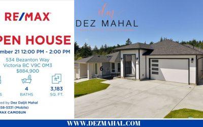OPEN HOUSE – 534 Bezanton Way – September 21  12:00 PM to 2:00 PM