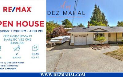 OPEN HOUSE – 7193 Cedar Brook Pl- September 7  2:00 PM to 4:00 PM
