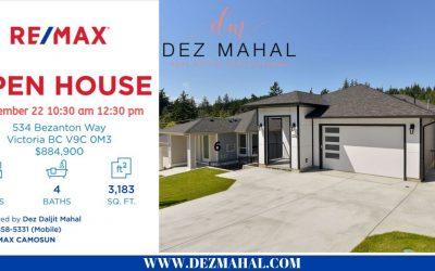 OPEN HOUSE – 534 Bezanton Way – September 22  10:30 AM to 12:30 PM