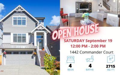 OPEN HOUSE – 1442 Commander Crt V8Z 0T1 Saturday , September 19 12:00 PM – 2:00 PM