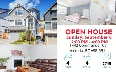 OPEN HOUSE – 1442 Commander Crt V8Z 0T1 Sunday, September 6 2:00 PM – 4:00 PM