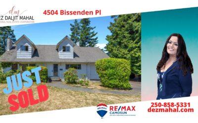 Another Sold : 4504 Bissenden Pl Saanich BC V8N 3K4